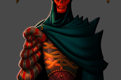 <span>Character Design, Creature Design</span>Mask of the Red Death