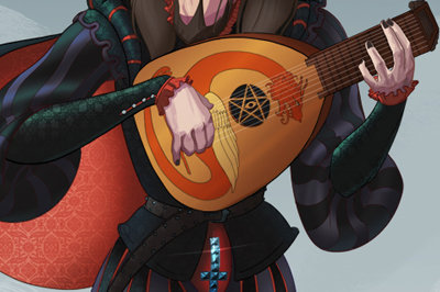 <span>Character Design, Comics Style</span>Heavy Metal Minstrel