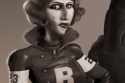<span>Cartoon Style, Character Design</span>Roller Derby Girls