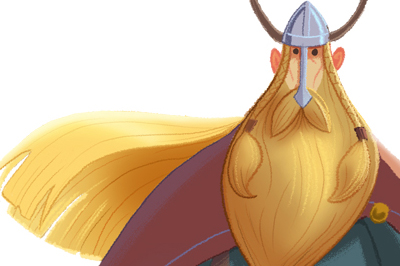 <span>Cartoon Style, Character Design</span>Viking Dude