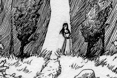 <span>Illustration, Pen and Ink</span>The Standing Stones